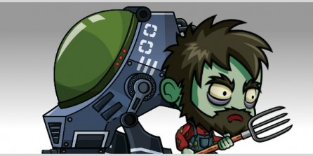 Zombie and Robot Royalty Free Game Art
